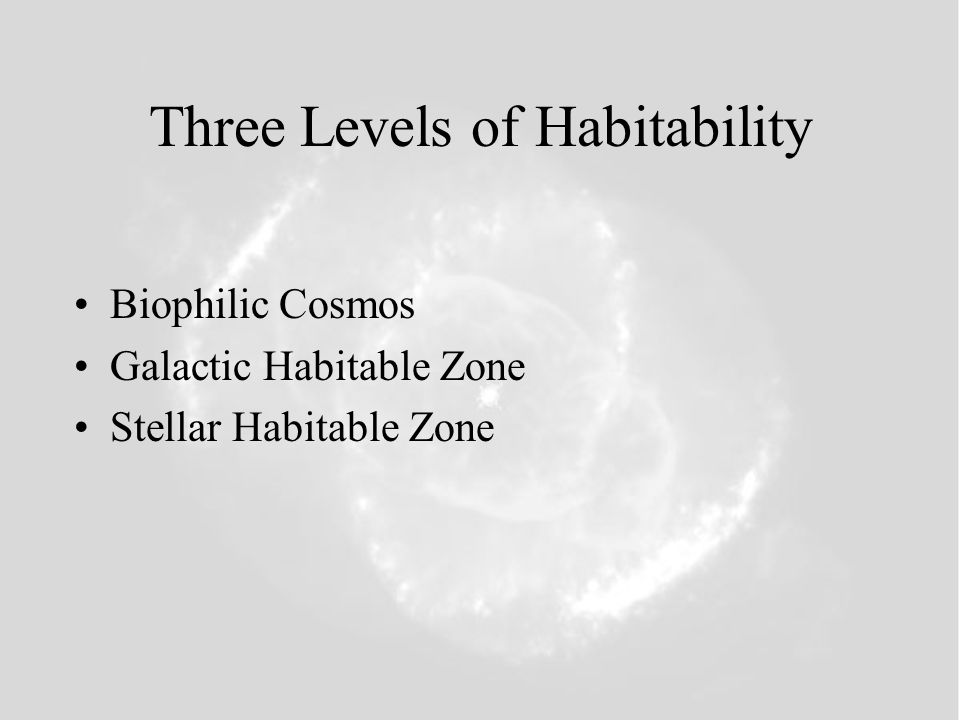 Three Levels of Habitability