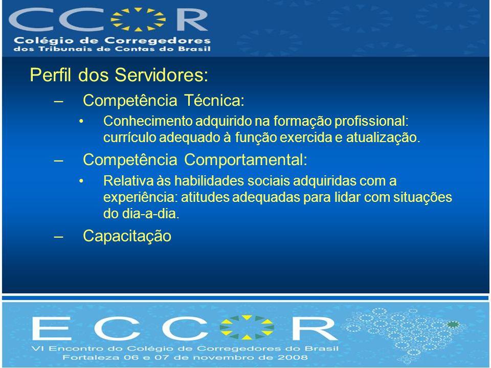 Perfil dos Servidores: