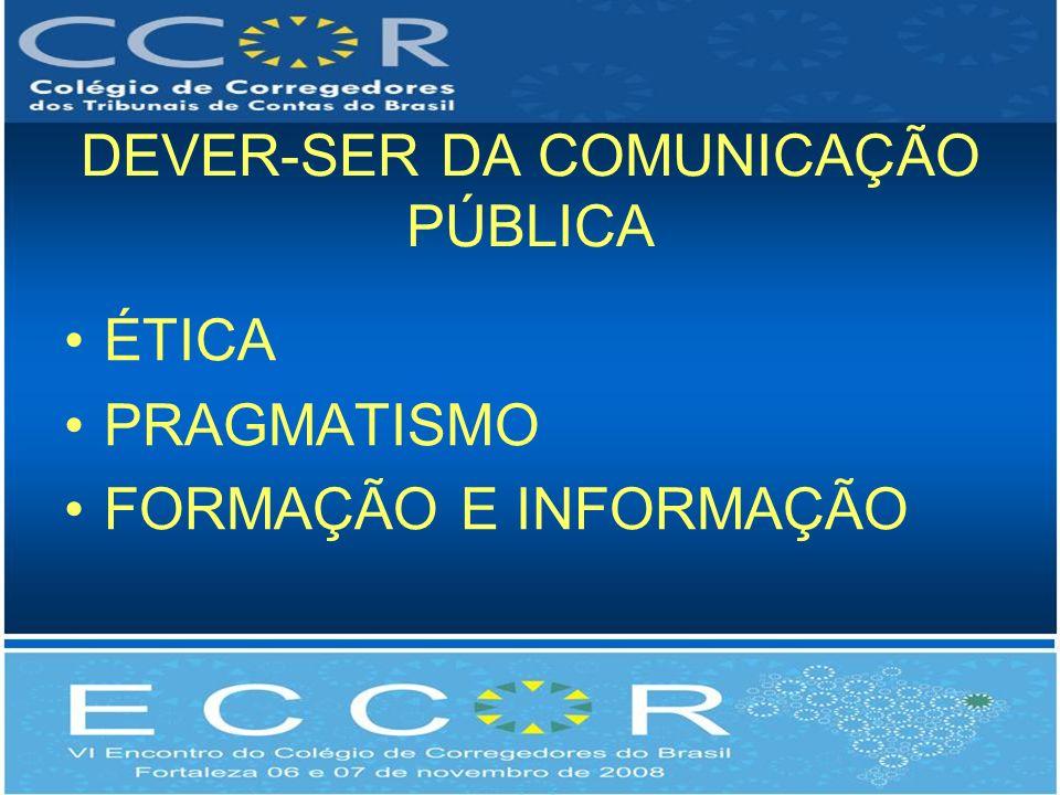 DEVER-SER DA COMUNICAÇÃO PÚBLICA