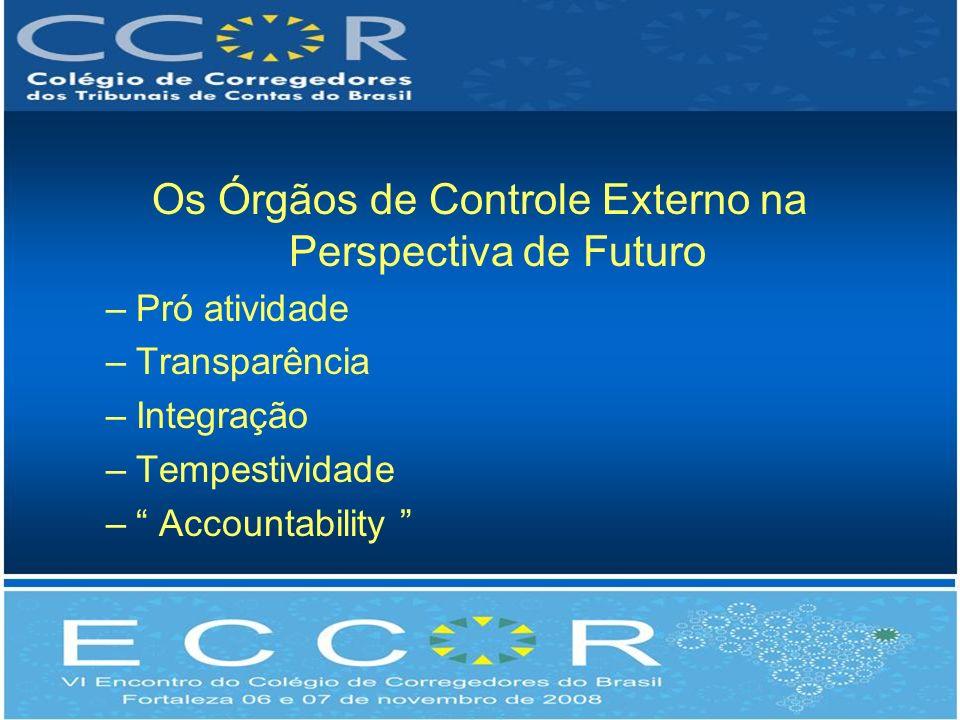 Os Órgãos de Controle Externo na Perspectiva de Futuro