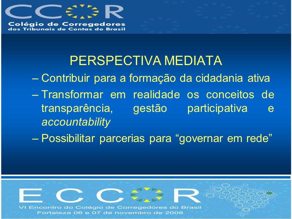 PERSPECTIVA MEDIATA Contribuir para a formação da cidadania ativa