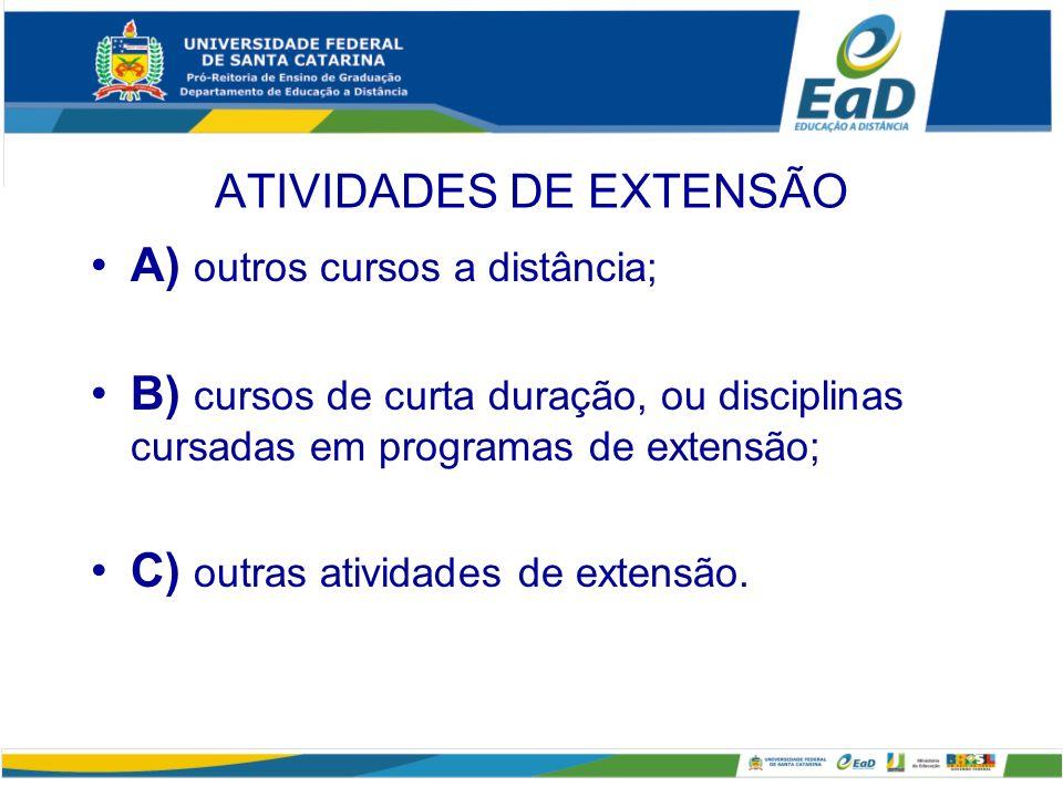 ATIVIDADES DE EXTENSÃO