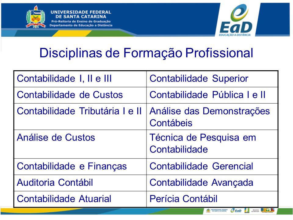 Disciplinas de Formação Profissional