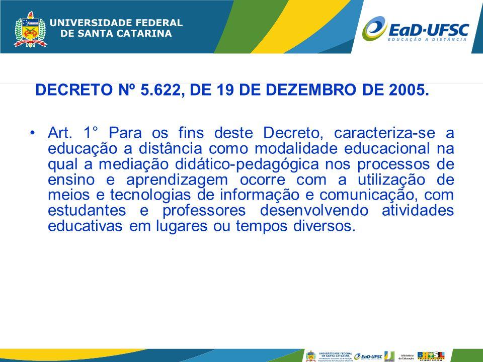 DECRETO Nº 5.622, DE 19 DE DEZEMBRO DE 2005.