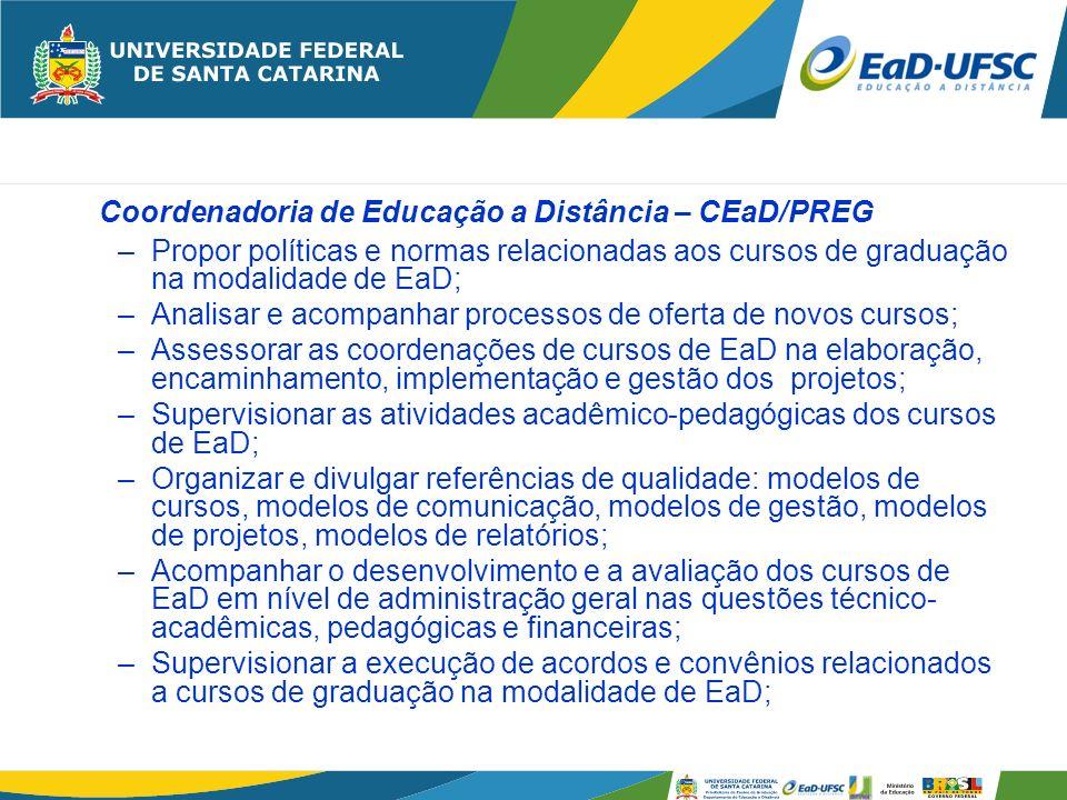 Coordenadoria de Educação a Distância – CEaD/PREG