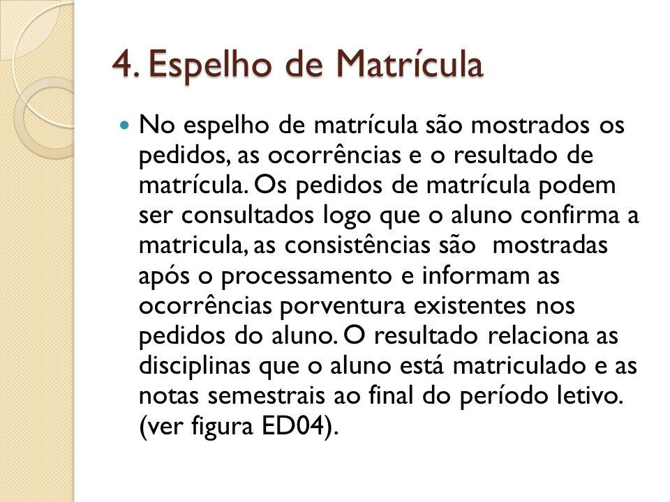 4. Espelho de Matrícula