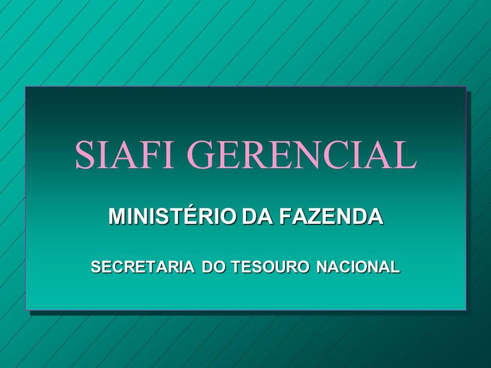 MINISTÉRIO DA FAZENDA SECRETARIA DO TESOURO NACIONAL