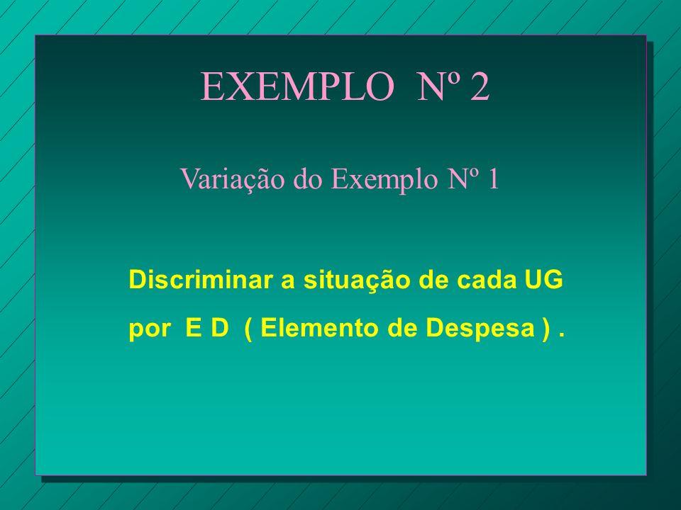 EXEMPLO Nº 2 Variação do Exemplo Nº 1