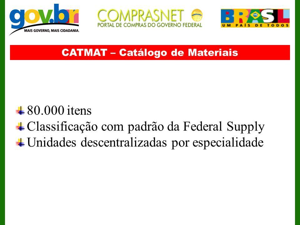 CATMAT – Catálogo de Materiais