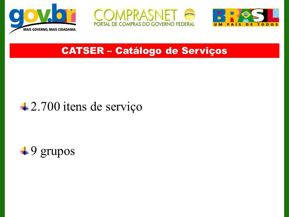 CATSER – Catálogo de Serviços