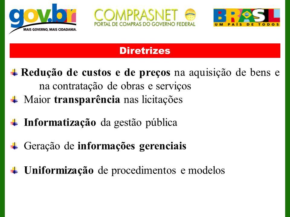 Maior transparência nas licitações Informatização da gestão pública