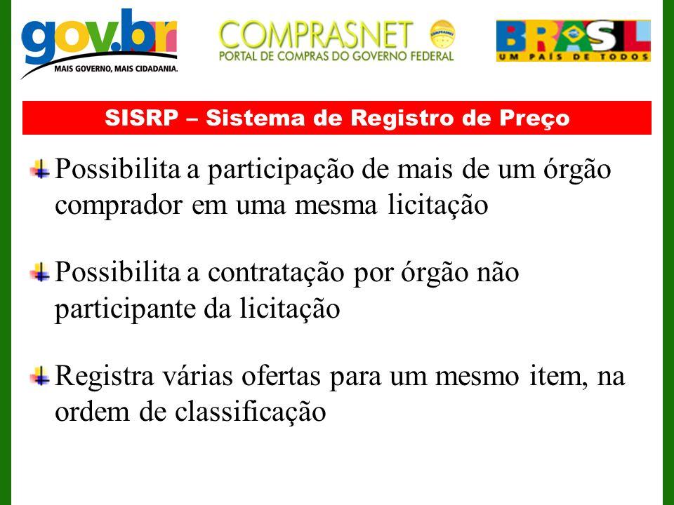 SISRP – Sistema de Registro de Preço