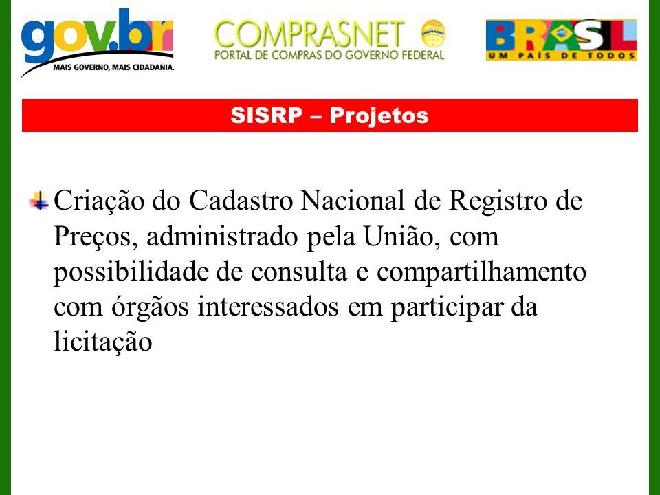SISRP – Projetos