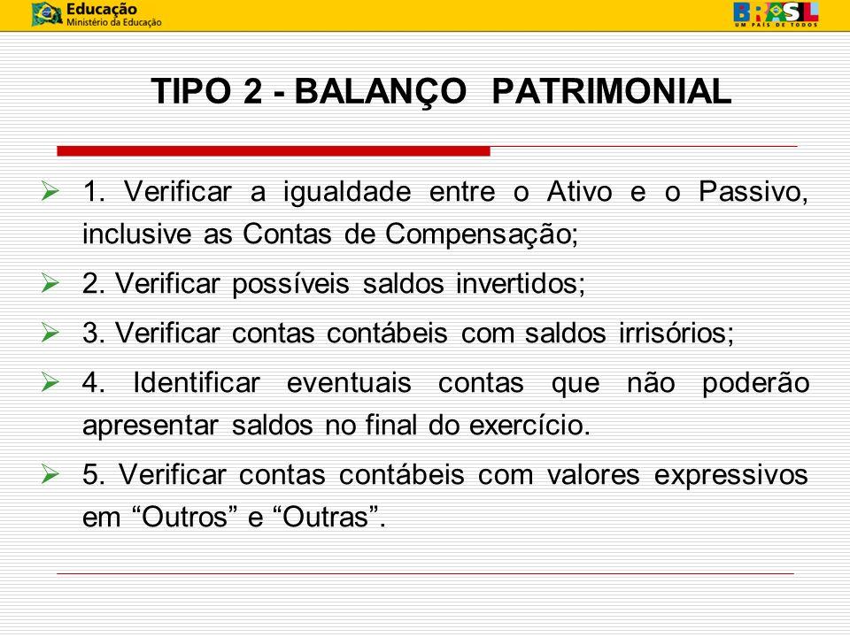 TIPO 2 - BALANÇO PATRIMONIAL