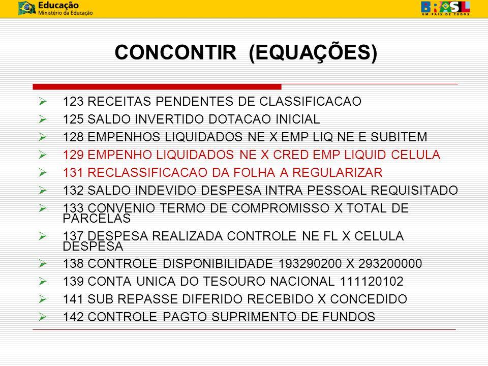 CONCONTIR (EQUAÇÕES) 123 RECEITAS PENDENTES DE CLASSIFICACAO