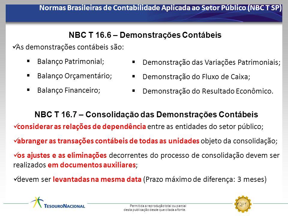 NBC T 16.6 – Demonstrações Contábeis As demonstrações contábeis são: