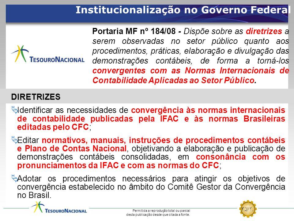 Institucionalização no Governo Federal