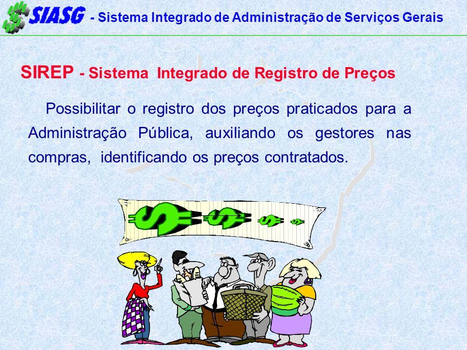 SIREP - Sistema Integrado de Registro de Preços