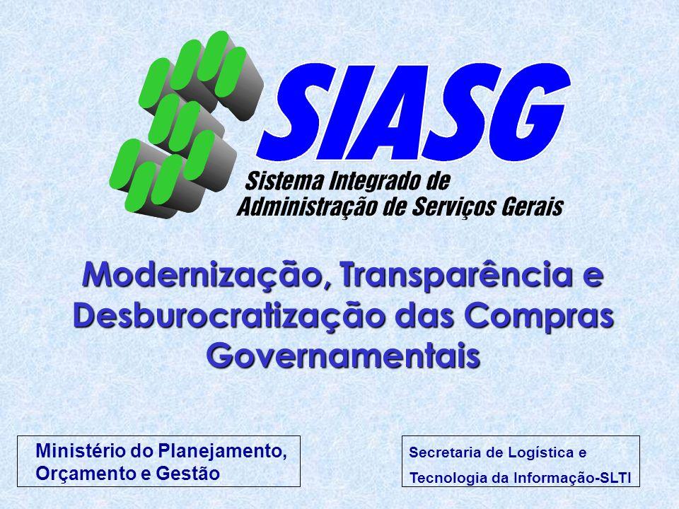 Modernização, Transparência e Desburocratização das Compras Governamentais