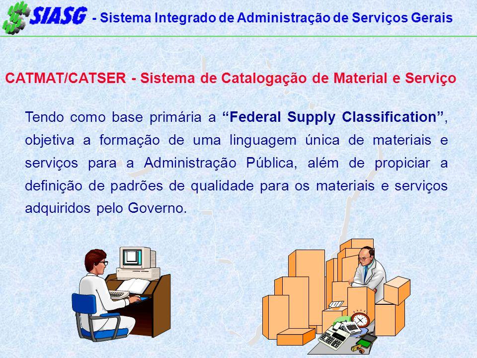 CATMAT/CATSER - Sistema de Catalogação de Material e Serviço