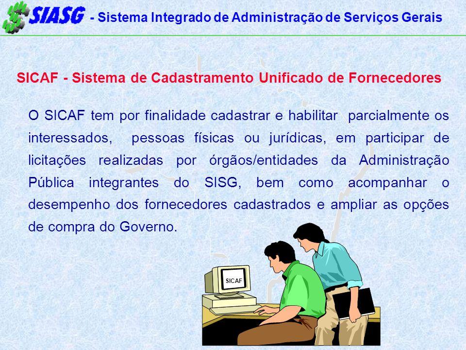 SICAF - Sistema de Cadastramento Unificado de Fornecedores