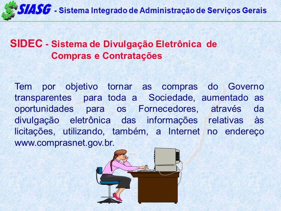 SIDEC - Sistema de Divulgação Eletrônica de