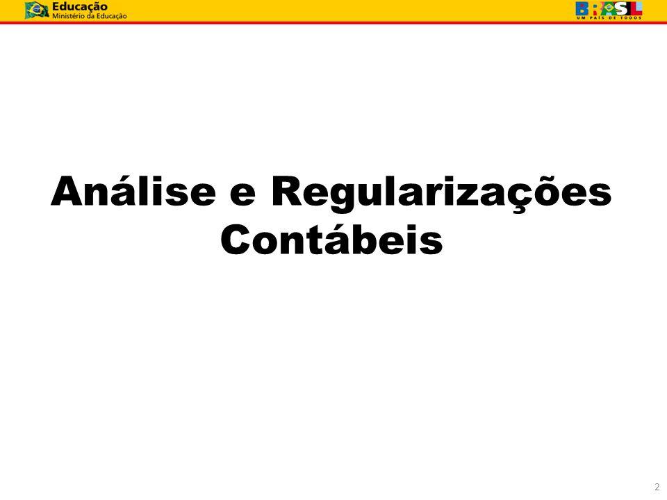 Análise e Regularizações Contábeis
