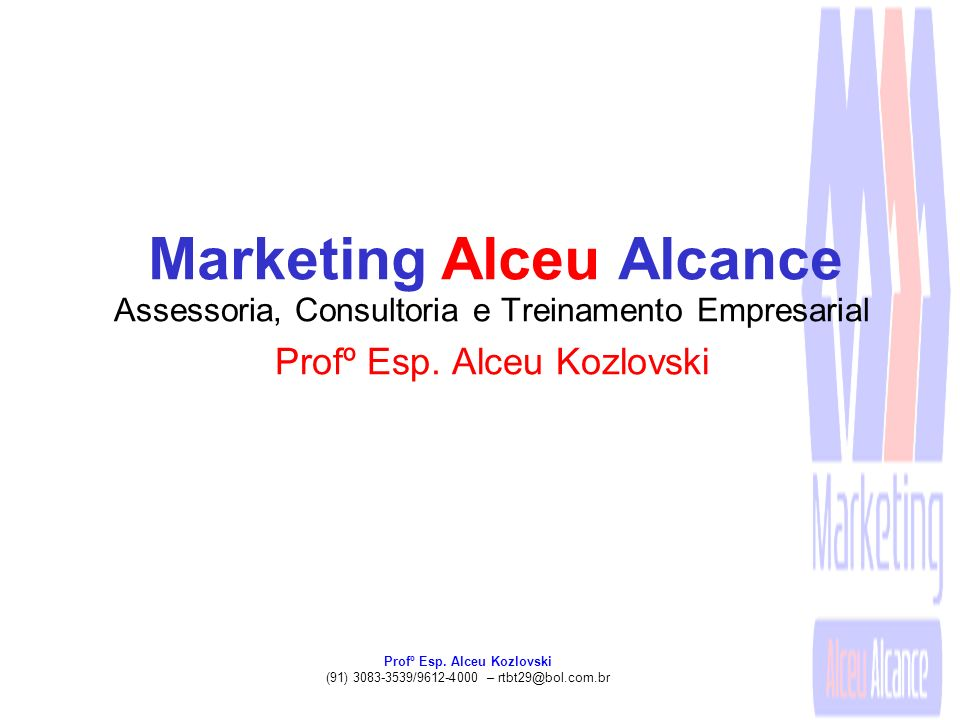 Marketing Alceu Alcance