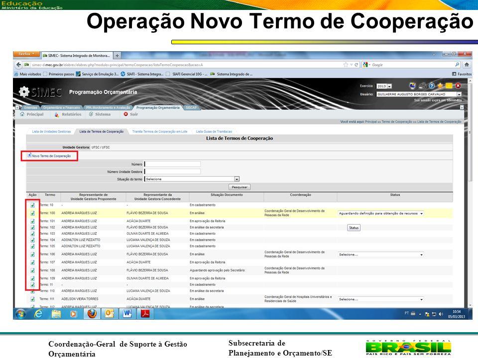 Operação Novo Termo de Cooperação