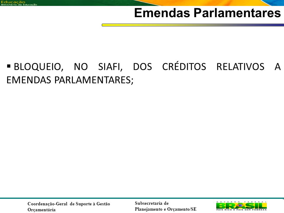Emendas Parlamentares