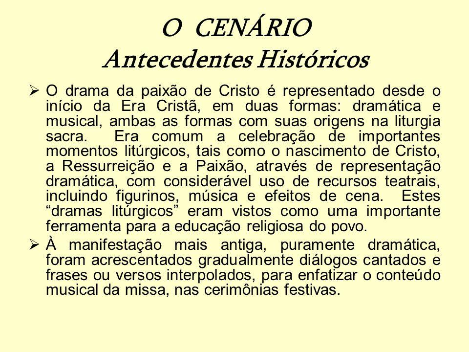 O CENÁRIO Antecedentes Históricos