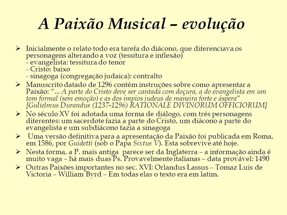 A Paixão Musical – evolução
