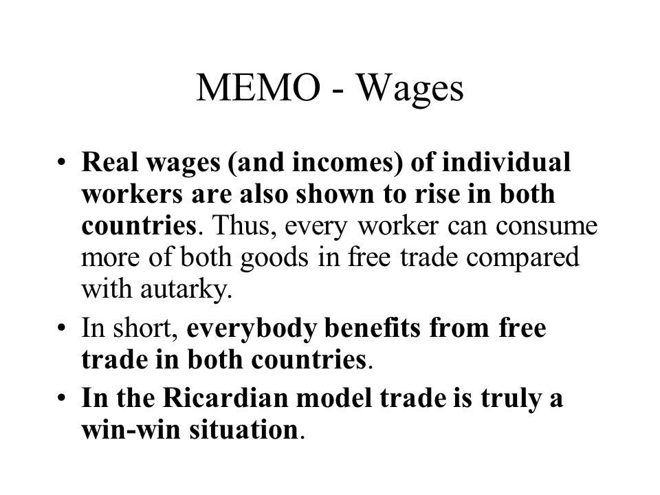 MEMO - Wages