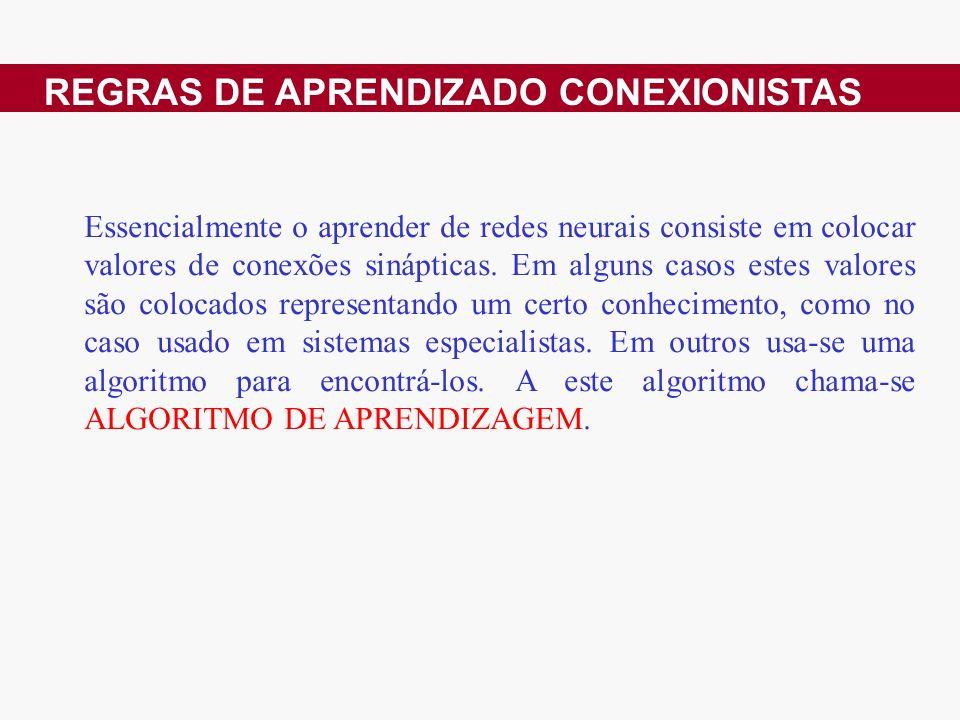 REGRAS DE APRENDIZADO CONEXIONISTAS
