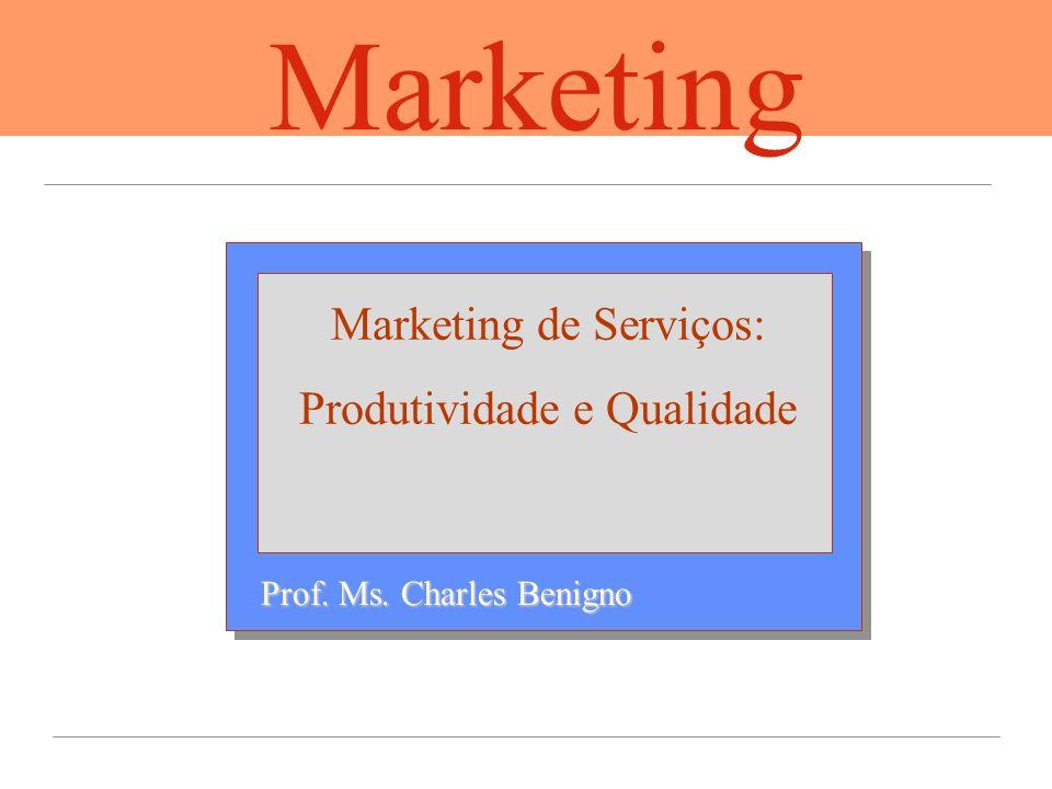 Marketing Marketing de Serviços: Produtividade e Qualidade