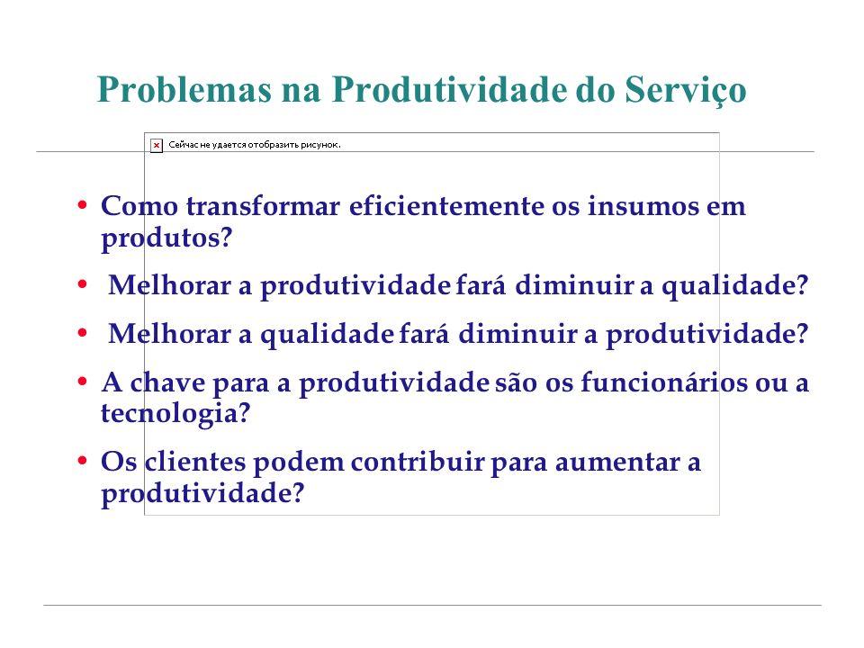 Problemas na Produtividade do Serviço