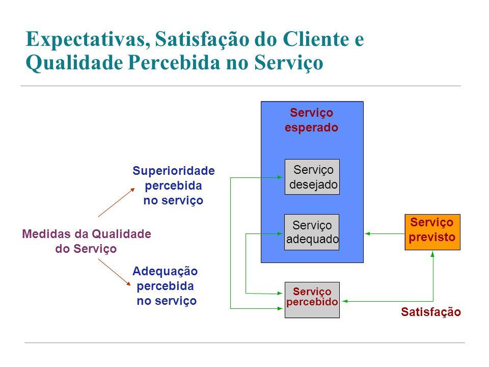 Expectativas, Satisfação do Cliente e Qualidade Percebida no Serviço