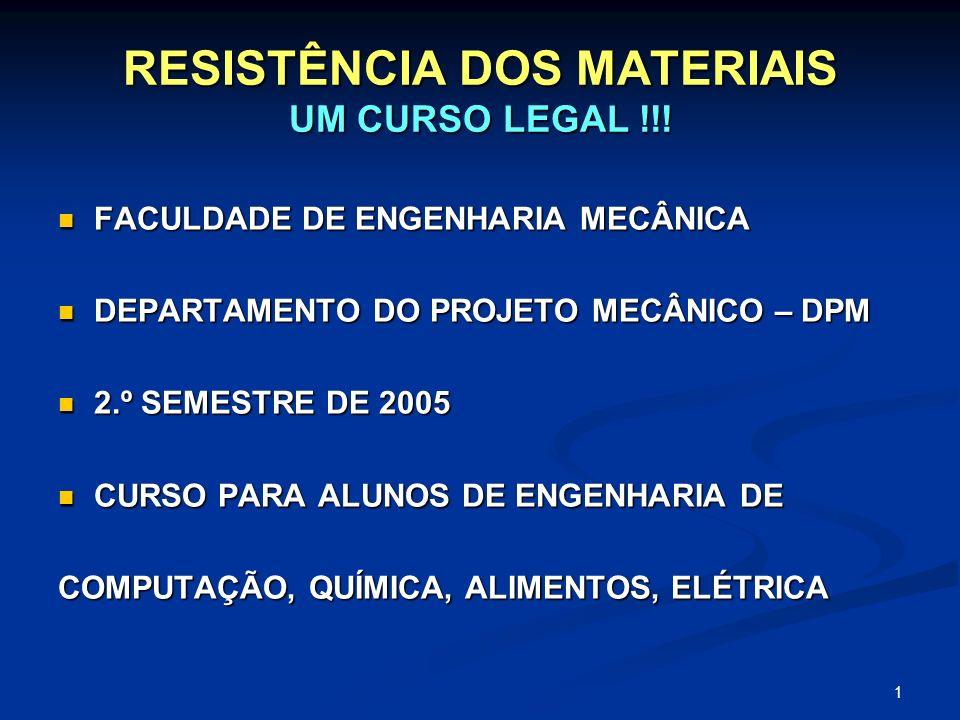 RESISTÊNCIA DOS MATERIAIS UM CURSO LEGAL !!!