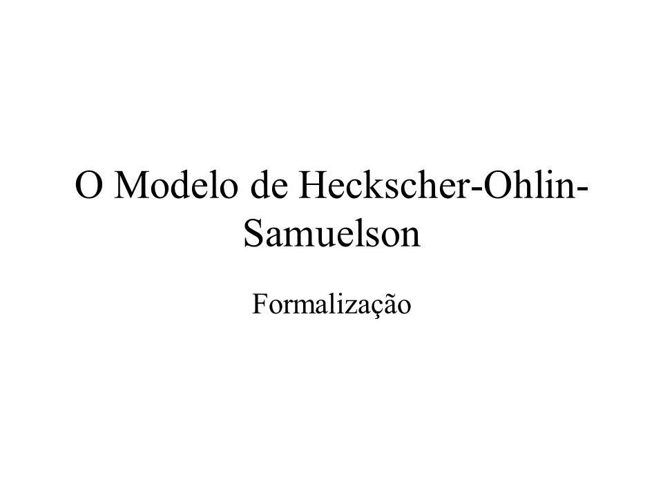 O Modelo de Heckscher-Ohlin-Samuelson