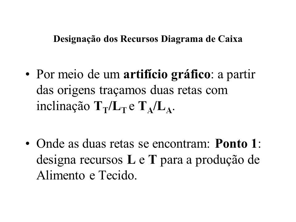 Designação dos Recursos Diagrama de Caixa