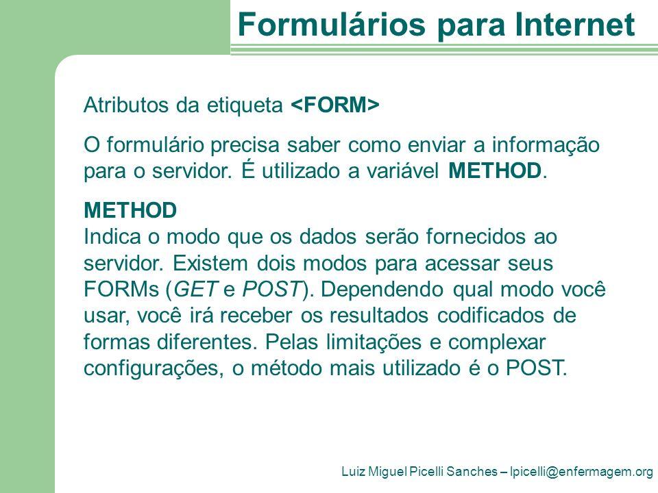 Atributos da etiqueta <FORM>