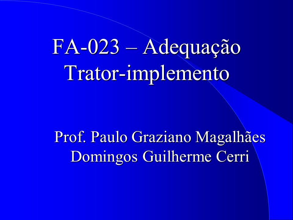 FA-023 – Adequação Trator-implemento