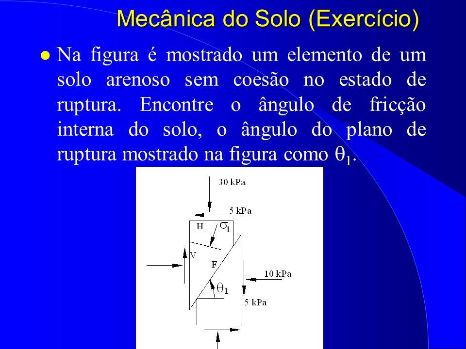 Mecânica do Solo (Exercício)