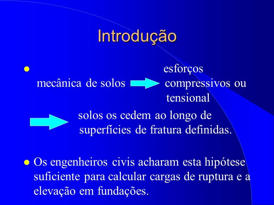 Introdução esforços mecânica de solos compressivos ou tensional