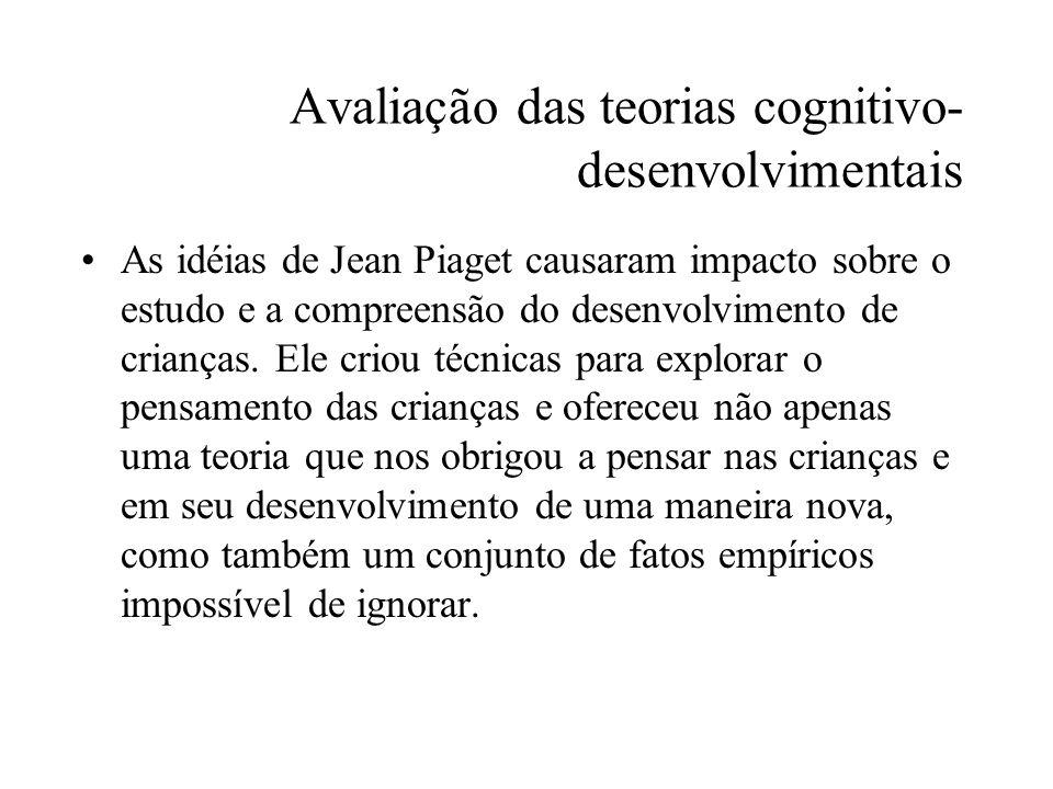 Avaliação das teorias cognitivo-desenvolvimentais