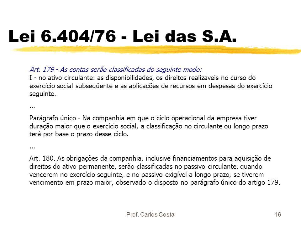 Lei 6.404/76 - Lei das S.A.