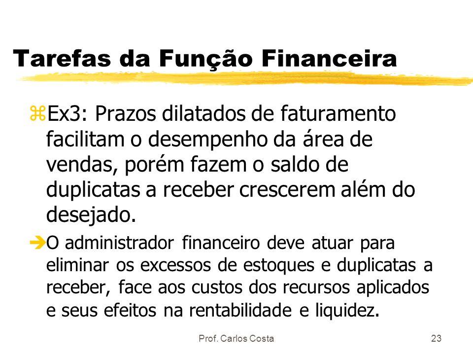 Tarefas da Função Financeira
