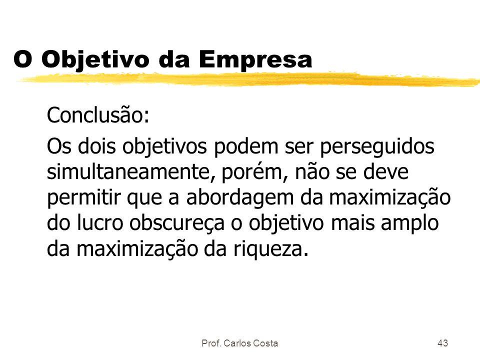 O Objetivo da Empresa Conclusão: