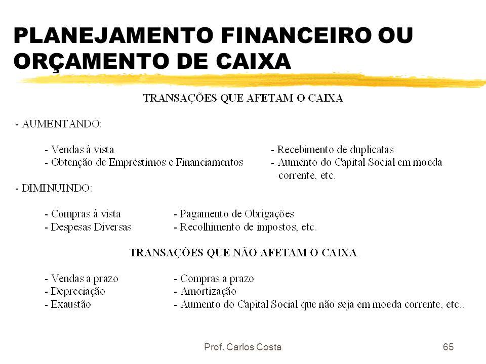 PLANEJAMENTO FINANCEIRO OU ORÇAMENTO DE CAIXA