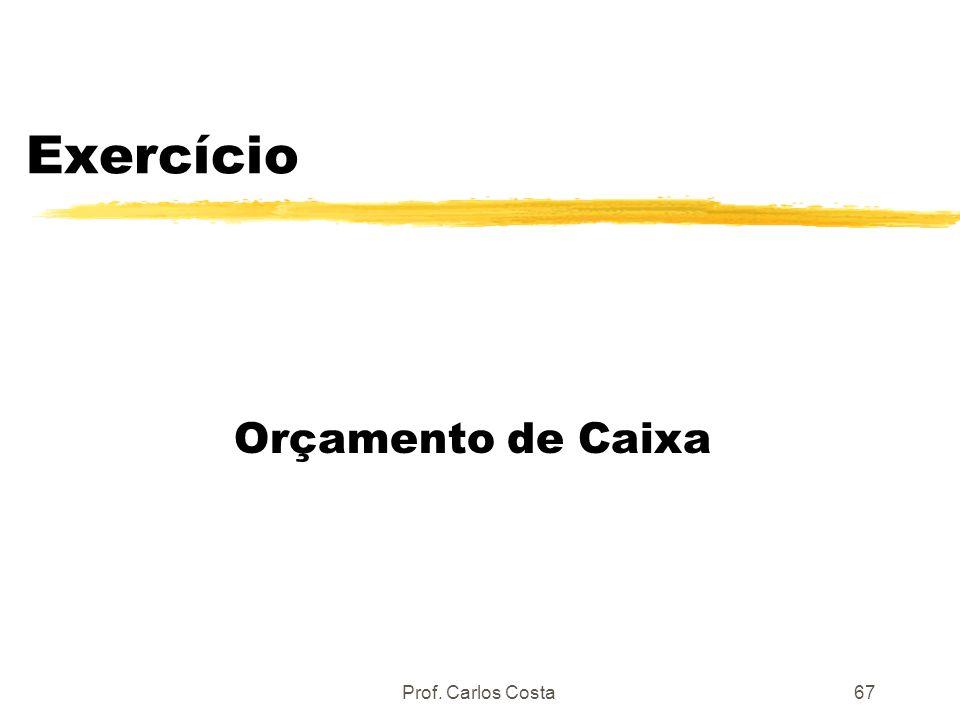 Exercício Orçamento de Caixa Prof. Carlos Costa